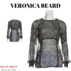 VERONICA BEARD Silk Floral Blouse